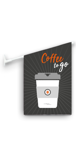 coffee perfect reklameflag