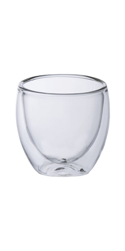 Dobbeltvægget espressoglas 80 ml