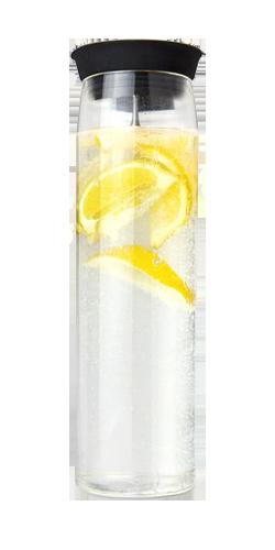 Glaskaraffel Silika med citron