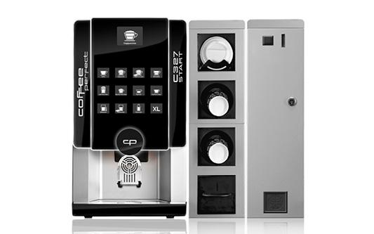 Fuldautomatiske kaffemaskine met betalingssystemer